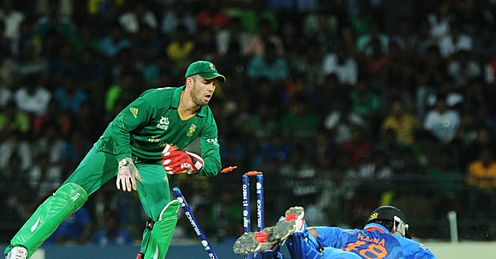 AB de Villiers South Africa v India World Twenty20 Super Eight Colombo RPS
