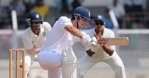 alastair cook england warmup match day two mumbai
