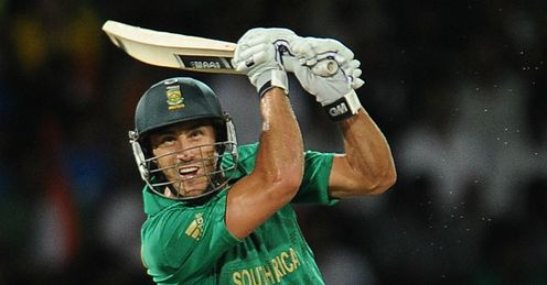 Francois du Plessis South Africa v India World Twenty20 Super Eight RPS Colombo