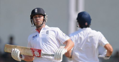 jonathan trott alastair cook day two india a mumbai brabourne stadium england warm up match