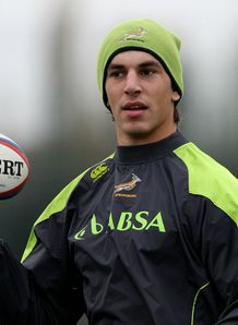 Eben Etzebeth South Africa training at Latymer school during European tour Nov 2012