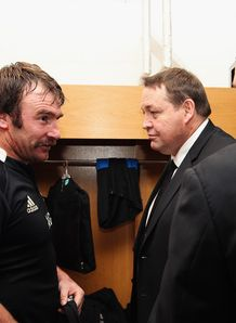 Andrew Hore in the changing room