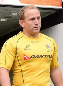 Australia s scrum half Brett Sheehan walks out