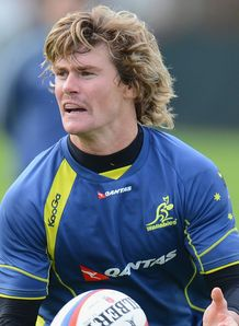 Berrick Barnes Wallabies training 2012