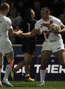 Ryan Hall ran in four tries as England easily overpowered France 48-4