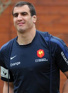 France s Rugby Union national team lock Yoann Maestri