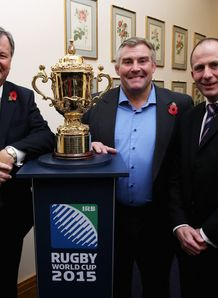 Ian Ritchie the RFU chief executive Jason Leonard and Steve Grainger