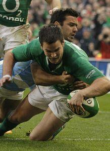 Jonathan Sexton try Ireland v Argentina