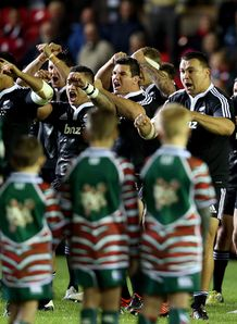 Maori All Blacks haka v Leicester 2012