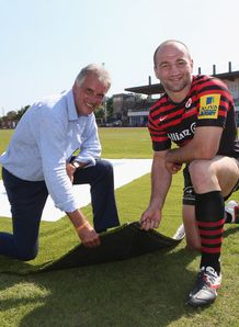Nigel Wray and Steve Borthwick at Allianz Park