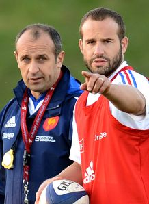 Philippe Saint Andre L and Frederic Michalak France training