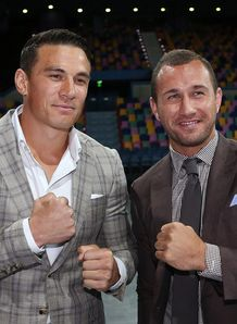 Sonny Bill Williams posing with Quade Cooper