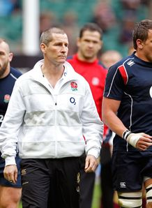 Stuart Lancaster the England Head Coach and Tom Johnson