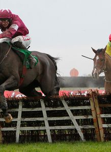 Mozoltov got the better of a duel with Don Cossack in the Racing UK Moscow Flyer Novice Hurdle at Punchestown