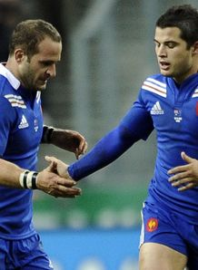 l r Frederic Michalak Brice Dulin France v Australia