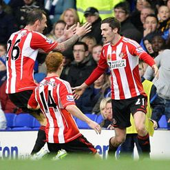 Adam Johnson: Netted first Sunderland goal at Everton last weekend