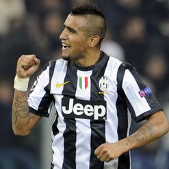 Vidal: On target for Juve