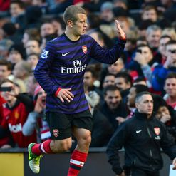 Wilshere: Sent off at Old Trafford