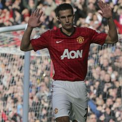 Van Persie: Holds back celebrations