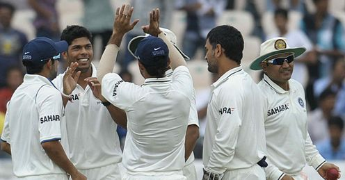 Umesh Yadav 2L India v New Zealand 2012