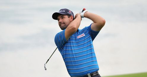 Harrington: Playing a practice round in Singapore on Tuesday