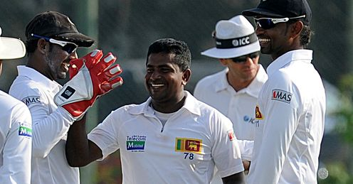 Rangana Herath Sri Lanka v New Zealand 1st Test day 1 Galle