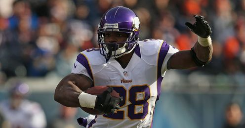 Peterson in hot pursuit of  Eric Dickerson's record