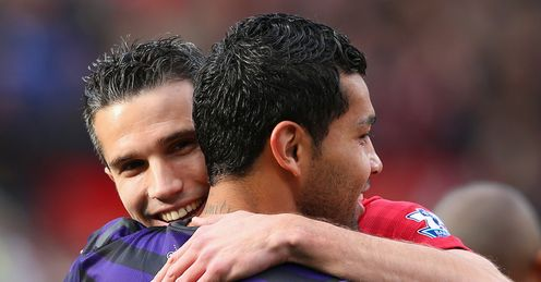 Santos: should he have waited to get Van Persie's shirt?