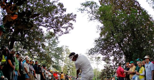 Shot from the trees: Bubba Watson