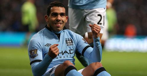 Tevez: took one of City's two penalties during the 5-0 win over Aston Villa