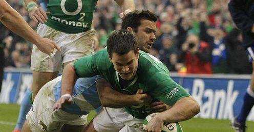 Jonathan Sexton try Ireland v Argentina