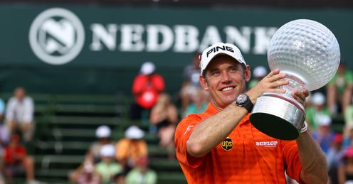 Lee Westwood celebrates his Nedbank Golf Challenge victory -  his most recent win.