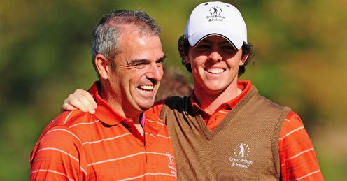 McGinley (L) and McIlroy