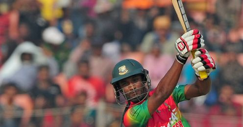 Naeem Islam Bangladesh v West Indies first ODI