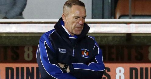 Shiels: the Kilmarnock boss has lashed out at officials this season