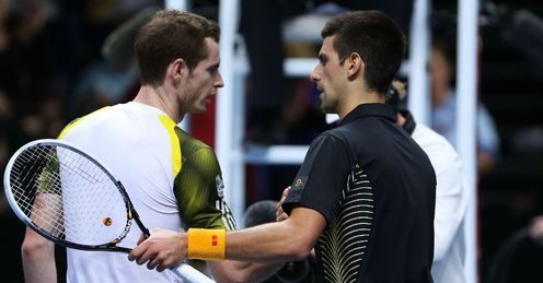 Dynamic duo: Murray and Djokovic snared some big titles in 2012