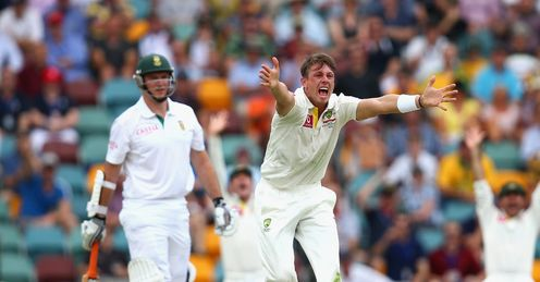 james pattinson graeme smith south africa australia day one first test brisbane gabba