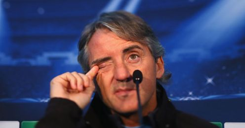 Mancini: Under pressure despite his side being undefeated in the Premier League