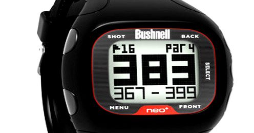 The face of Bushnell's new, easy-to-use Neo+ GPS watch