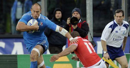 Sergio Parisse Italy Tonga