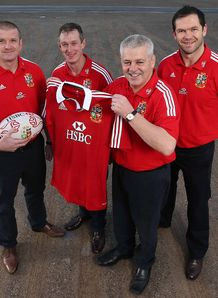 British and Irish Lions Graham Rowntree Rob Howley Andy Farrell Warren Gatland