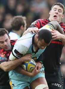 Courtney Lawes Saints v Sarries AVP 2012