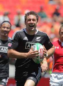 Kurt Baker smiling for New Zealand Sevens