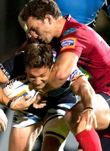 SKY_MOBILE George North Chris Cusiter - Scarlets v Glasgow RaboDirect