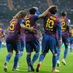Barca celebrate their second