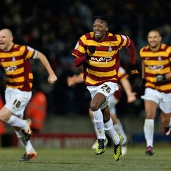 Bantams: Players celebrate giant killing