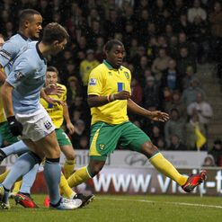 Dzeko: Nets his second at Norwich