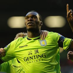 Benteke: On the mark for Villa