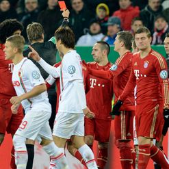 Ribery: Receives red card