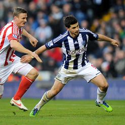 Tough battle: Robert Huth and Shane Long